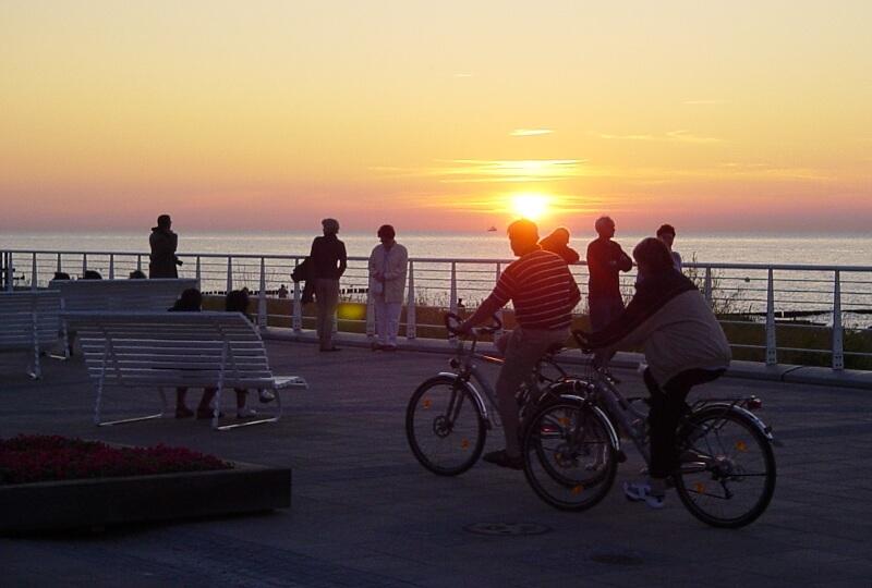 Radler Sonnenuntergang